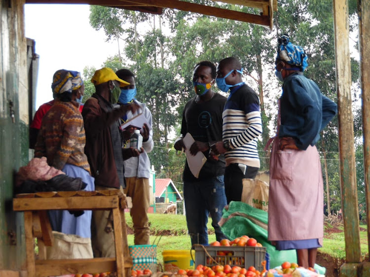 The team visited mam mbogas in the area informing them the importance of adhering to the guidelines issued by the government.