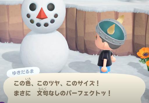 あつ森 6月 雪