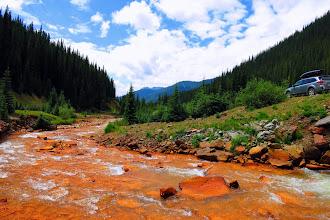 "Photo: Hike along ""Cement Creek"""