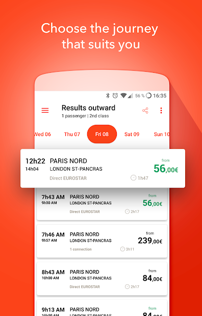 OUI.sncf - Train travel Android App Screenshot