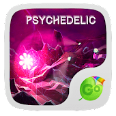 Psychedelic GO Keyboard Theme
