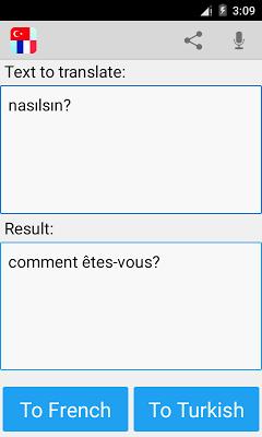 Turkish French Translator - screenshot