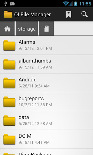 OI File Manager screenshot 1