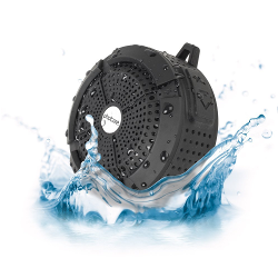 Photive Rain WaterProof Portable Bluetooth Shower speaker. Rugged Wireless Outdoor/Shower Speaker with Built in Microphone