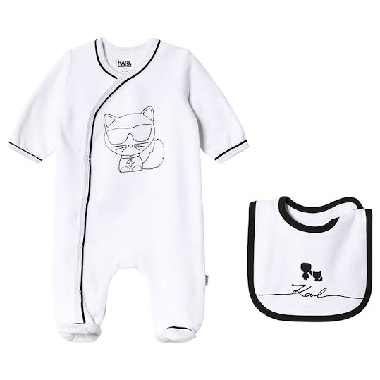 Choupette Baby Body Set vit