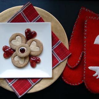 : Chestnut Linzers w/ Spiced Rum Pastry Cream