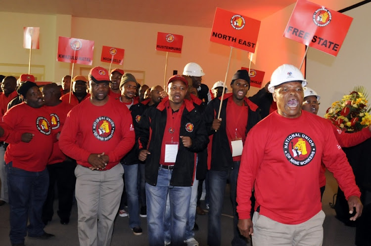 National Union of Mineworkers members. Picture: SOWETAN