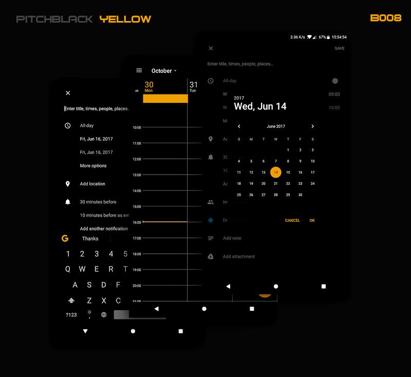 PitchBlack - Substratum Theme For Nougat/Oreo/Pie Screenshot 4