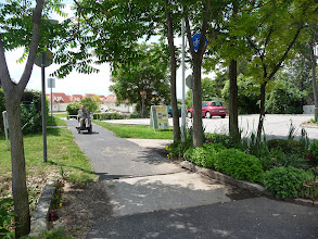 Photo: Velence, Hungary, Lake Velence Bike path opposite wheelchair accessible bungalow of http://www.gehandicapten.com