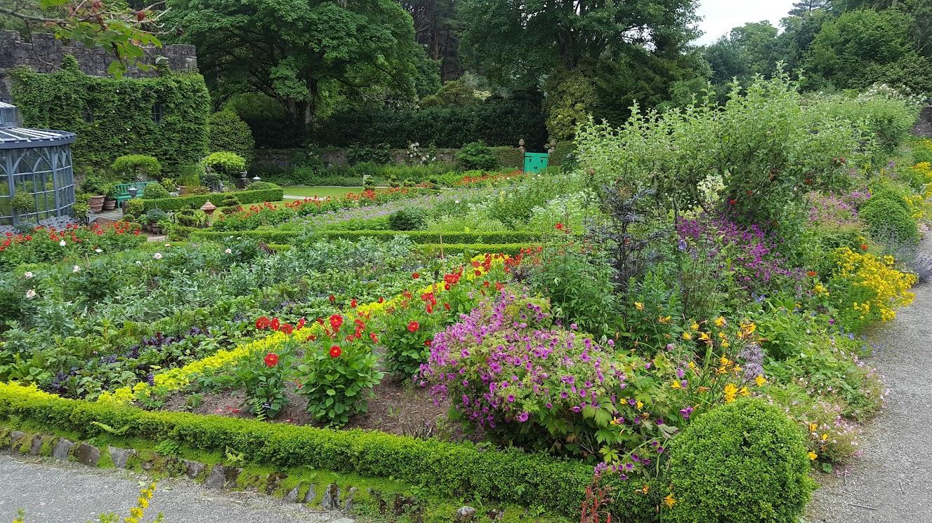 Glenveagh castle garden