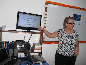 Photo: Presentation on Rules of Engagement at Alianza Carmelo, Feb. 23