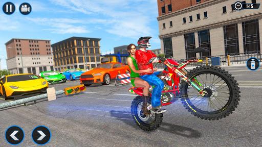 Extreme Rooftop Bike Rider Sim : Bike Games apkmr screenshots 3