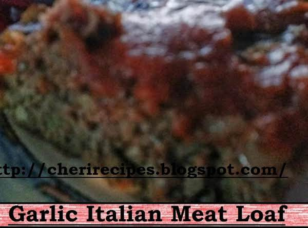 Garlic Italian Meat Loaf Recipe