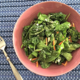 Kale and Feta Salad {with Homemade Honey Vinegar Dressing}