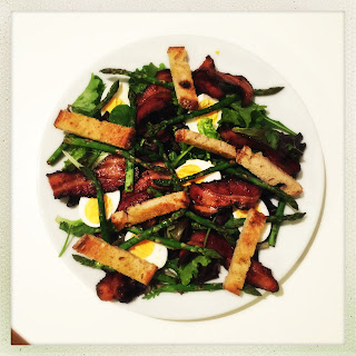 Bacon, Egg And Asparagus Salad.
