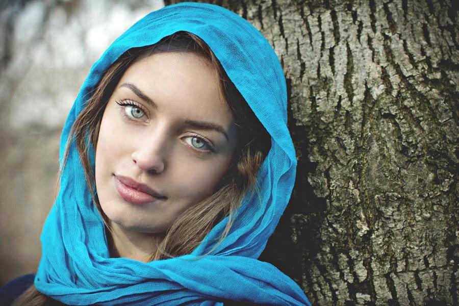 ICON by Daniel Kitu - People Portraits of Women ( face, blue, purity, smile, eyes, feminity )