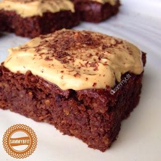 Peanut Butter Chocolate Chip Oat Flour Brownies