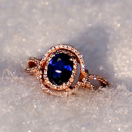 Sapphire by Dawn Friend - Artistic Objects Jewelry ( jewelry, diamonds, close up, blue, ring,  )