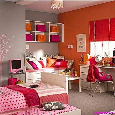 ガールズ寝室の装飾デザイン