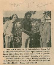 Photo: Chuck William, Charlie Butler, President Milt Lindsley - November 1, 1973
