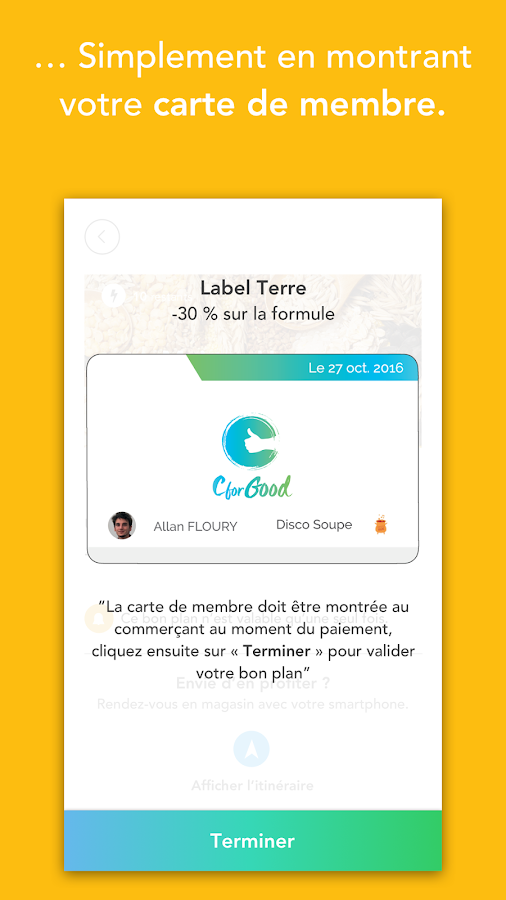 CforGood - Bons plans locaux- screenshot