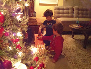 Photo: Clark and Finn Early Christmas at Grandma's