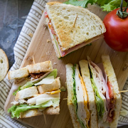 Turkey, Ham & Swiss Sandwich. Served with a side