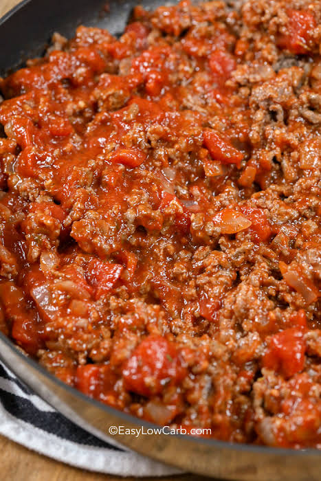 Easy Low Carb Meat Sauce