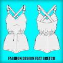 Fashion Flat Sketch Designs icon