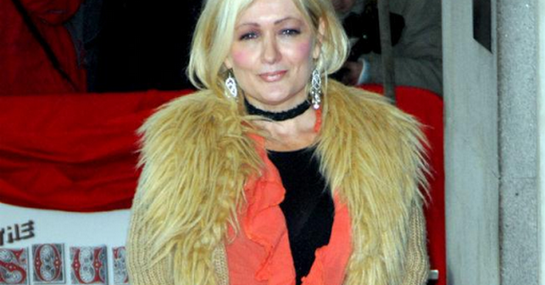 Craig Cash has Caroline Aherne with him