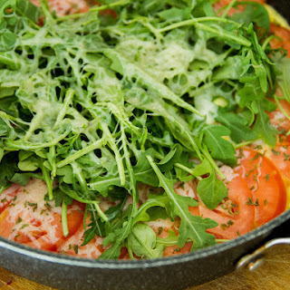 Omelet with Cheese, Tomato and Arugula Recipe