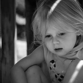 Wonder by Jill Laudenslager - Babies & Children Child Portraits ( black and white, maddy 2015, children, kids, toddler )