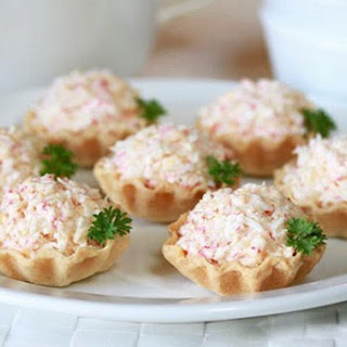 Tartlets With Crab Meat And Cheese