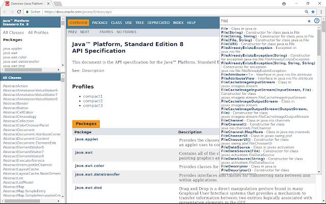 Javadoc Search