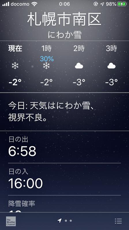 天気予報・にわか雪