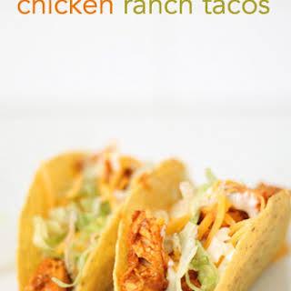 Easy Chicken Ranch Tacos.