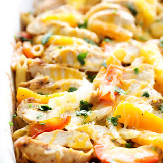 Chicken Fajita Pasta Casserole.