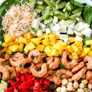 Caribbean Shrimp Salad with Citrus Balsamic Vinaigrette.