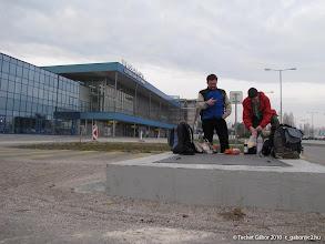 Photo: csövezős reggeli a reptéren (Pozsony)