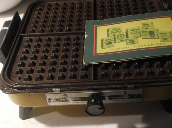 A picture of my trusty ole,  harvest gold color waffle maker. If you flip the...
