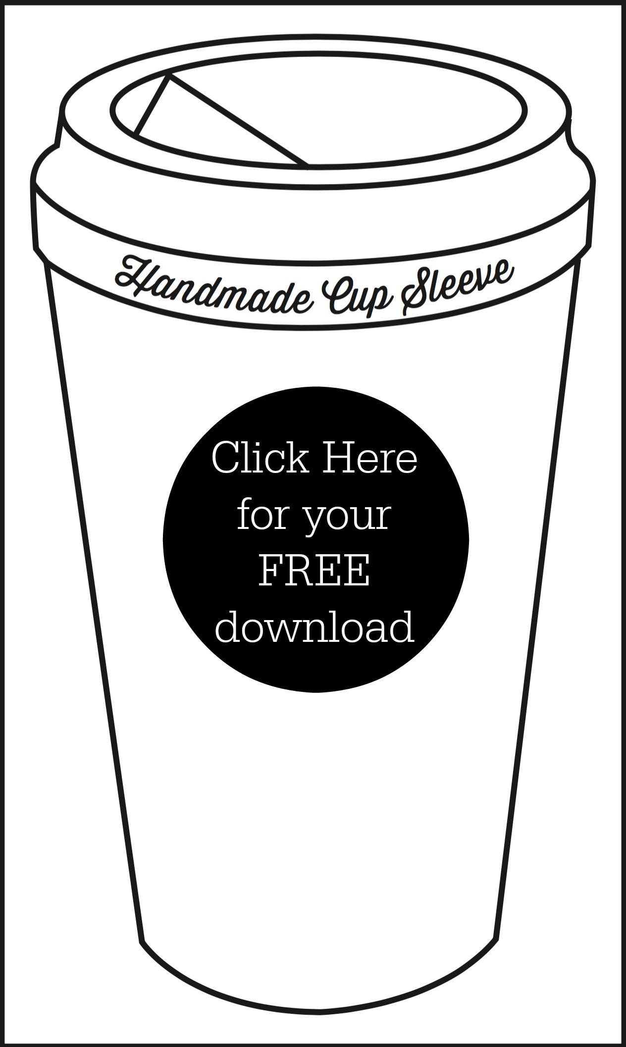 5 FREE Coffee Sleeve Patterns