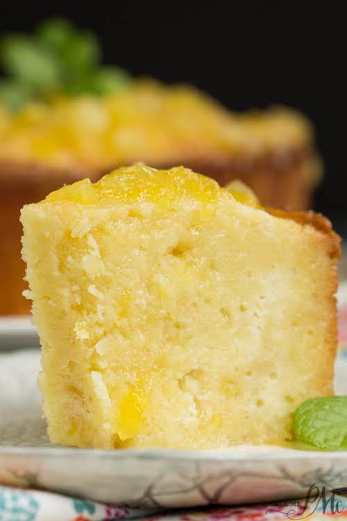 """Two Step Pineapple Pound Cake """"A taste of the tropics, Two Step..."""