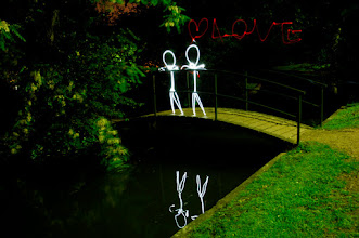 Photo: Love - Light painting by Christopher Hibbert, french photographer and light painter. Further information: http://www.christopher-hibbert.com