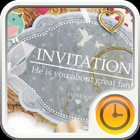 Invitation to Girly Widget