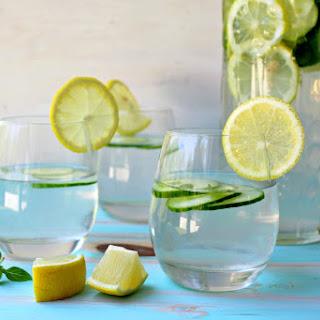 Lemon Basil Cucumber Infused Water.