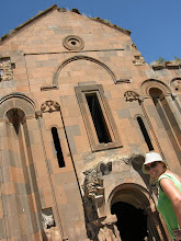 Photo: Suzanne and the mighty Armenia church, over a thousand years old, Ani