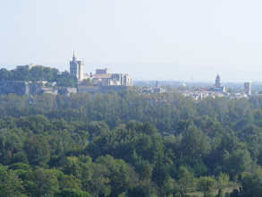 Photo: And here, an intermission in the story, to look across at Avignon at high zoom.