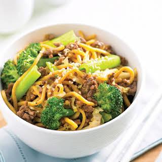 Sesame Beef Noodle Stir-Fry.