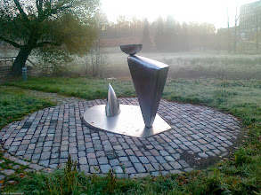 Photo: Misty morning - Chrome sculpture