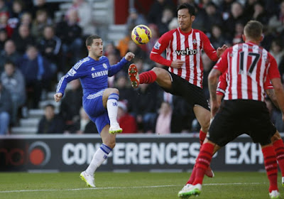 Eden Hazard matraqué aussi en Ligue des Champions
